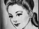 Short Hairstyles Drawing Elegant 1940s Short Hairstyles – Uternity