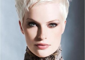 Short Hairstyles for White Women Pixie Cut White Hair Messy Spikey Hair In 2018