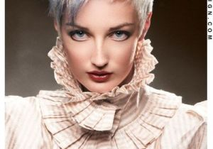 Short Hairstyles for White Women Short Hairstyles White and Blue Spiked Up Pixie Cut