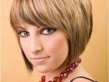 Short Inverted Bob Haircut with Bangs Bob with Bangs