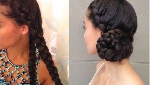 Side Buns Hairstyles Images How to Create A Braided Side Bun On Long Hair Hair