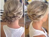 Side Swept Updo Hairstyles for Weddings Bridal Hair Wedding Hair Side Bun Curly Bun Side Swept
