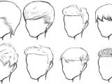 Simple Hairstyles Drawing Male Hair Sketches Buzz F