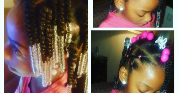 Simple Hairstyles for Little Black Girl Simple Hair Styles for Little Black Girls Braids Beads and