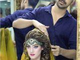 Simple Mehndi Hairstyles Glamorous Mehndi Bridal Makeup by Kashif aslam