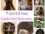 Simple Mom Hairstyles 8 Quick and Easy Little Girl Hairstyles Kid Hair Ideas