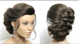 Simple Wedding Hairstyles Youtube Braided Bun Hairstyle Easy Updo Tutorial for Medium Long Hair