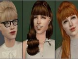 Sims 2 Wedding Hairstyles Schoolgirls Skirts and Accessory Bangs Sims 2