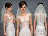 Sims 2 Wedding Hairstyles Wedding Veil 04 for the Sims 3 by Beo