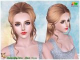 Sims 3 Wedding Hairstyles Download B Fly Back Braided Hair 116 by Yoyo Sims 3 Downloads Cc Caboodle