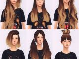 Sims 4 Child Hairstyles Download Elliesimple Hair Recolor Ombré