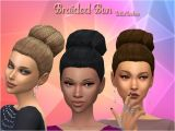 Sims 4 Child Hairstyles Download Sims 4 Hair Bun
