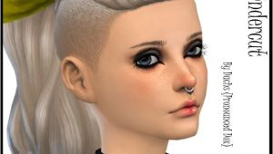 Sims 4 New Hairstyles Download Sims 4 Updates Dachs Sims Hairstyles Wms Undercut Pony Custom