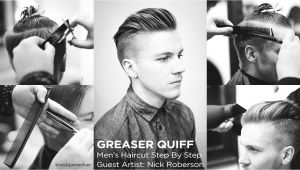Step by Step Mens Hairstyles the Greaser Quiff Men S Haircut Step by Step