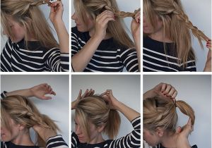 Steps to Make Easy Hairstyles Easy Braided Ponytail Hairstyle How to Hair Romance