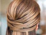 Straightened Hairstyles Half Up Half Updo Diy Beauty Pinterest