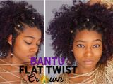 Summer Hairstyles for African American Women Natural Black Summer Hairstyles Flat Twist Bantu Knot Crown Hair