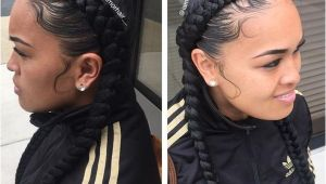 Two Braid Hairstyles with Weave Two Braids Hairstyles