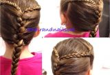 Two Strand Braid Hairstyle Two Three Strand Braids Into A French Braid