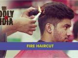 U Hair Cutting Video Fire Haircut In New Delhi
