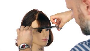 U Hair Cutting Video How to Cut Bangs thesalonguy