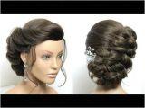 Up Hairstyles Long Hair Youtube Braided Bun Hairstyle Easy Updo Tutorial for Medium Long Hair