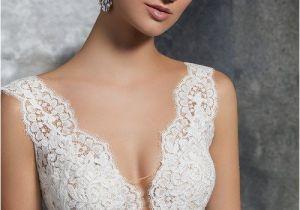 V-neck Wedding Dress Hairstyles Lace Wedding Dress V Neckline Wedding Dress Style 8208 by