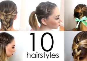 Very Easy Hairstyles for Girls Cool Easy Girl Hairstyles