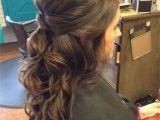 Wavy Half Updo Hairstyles Half Up Half Down Curly Hairstyles Best Hairstyle Ideas