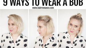 Ways to Style A Short Bob Haircut 9 Ways to Wear A Bob Hair Romance