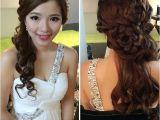 Wedding Dinner Hairstyle Wedding Dinner Make Up & Hairdo Pretty Bride Of the Day