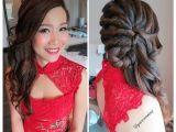 Wedding Dinner Hairstyle Wedding Dinner Makeup & Hairdo Romantic Curl Twisted