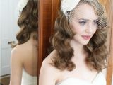 Wedding Hairstyles 1950s 1940s 1950s Vintage Style Headdress and Birdcage Veil with