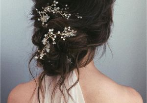 Wedding Hairstyles and Headpieces Messy Bun Wedding Updos Pair fort and Style