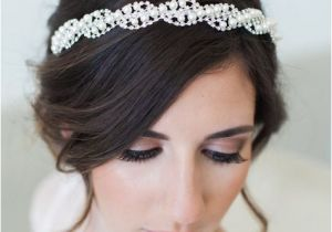 Wedding Hairstyles Art Deco Pearl Bridal Headband Bridal Crystal Headband Pearl Wedding