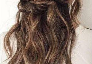 Wedding Hairstyles Brunette Twisted Half Up Hairstyles