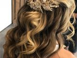 Wedding Hairstyles Etsy Half Up Half Down Bridal Hair Style with Hair Accessory From
