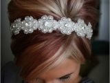 Wedding Hairstyles Etsy Lilly Floral Rhinestone Headband Wedding Headpiece Ribbon