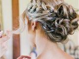 Wedding Hairstyles for Long Hair Buns Braided Bun Wedding Hairstyle for Long Hair