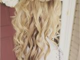 Wedding Hairstyles for Long Hair Down with Flowers Wedding Hairstyles Half Up Half Down Best Photos