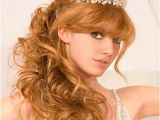 Wedding Hairstyles for Long Hair Half Up with Tiara Ideas On Long Half Up and Half Down Wedding Hairstyles