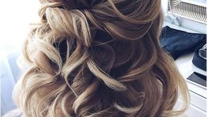 Wedding Hairstyles for Medium Hair 2018 Partial Updo Wedding Hairstyles 2018 for Medium Hair