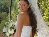Wedding Hairstyles Hair Down Long Veil Updos with Headbands for Bride