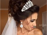 Wedding Hairstyles Half Up with Veil and Tiara Image Result for Bridal Updos with Headband and Veil