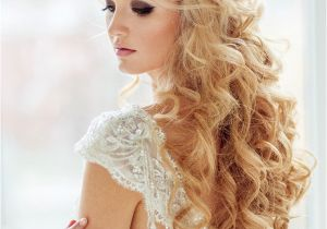 Wedding Hairstyles Long Down Curly top 20 Down Wedding Hairstyles for Long Hair Reception