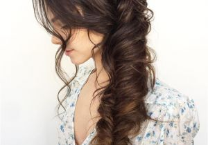 Wedding Hairstyles Long Hair to the Side Hair Inspo Beauty Inspo In 2019 Pinterest