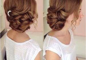 Wedding Hairstyles Long Hair to the Side Side Swept Updo Draped Updo Wedding Hairstyles Bridal Hair Ideas