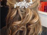Wedding Hairstyles Medium Length Hair Half Up Image Result for Half Up Half Down Wedding Hair Medium