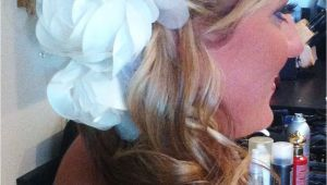 Wedding Hairstyles Off to the Side Bridal Updo Off to the Side Ponytail with White Accessory