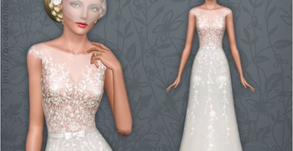 Wedding Hairstyles Sims 4 I Know This is A Weird Sims Thing but I Like the Dress if It Weren T